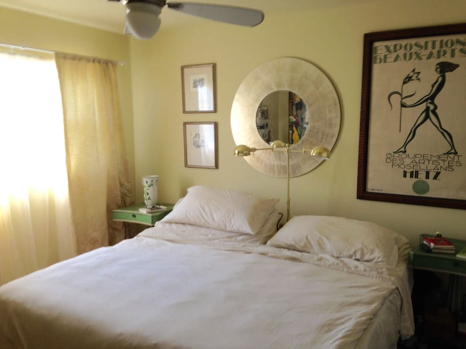 Large master bedroom with custom closets