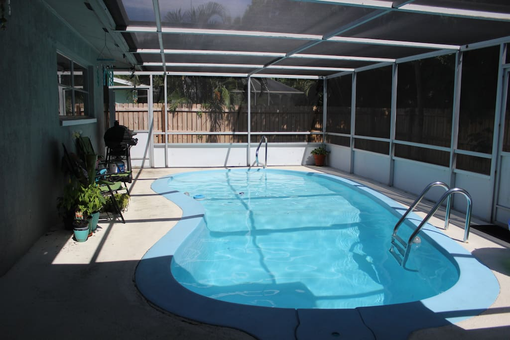 Cool off in the pool or just enjoy sitting poolside in our peaceful back yard