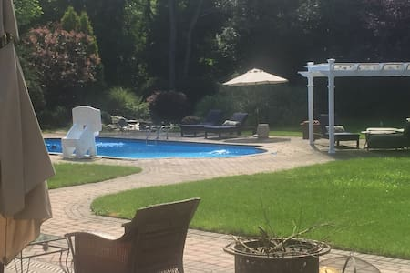 Private wing & Salt water pool - Cold Spring Harbor - 独立屋