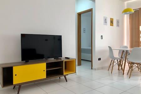 Apartamento com vista para Piscina e Churrasqueira