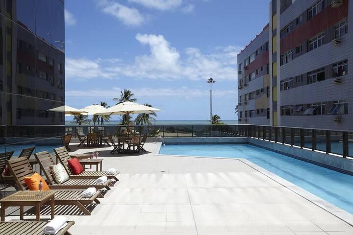 Flat Alto Luxo na Beira Mar da Praia de Boa Viagem