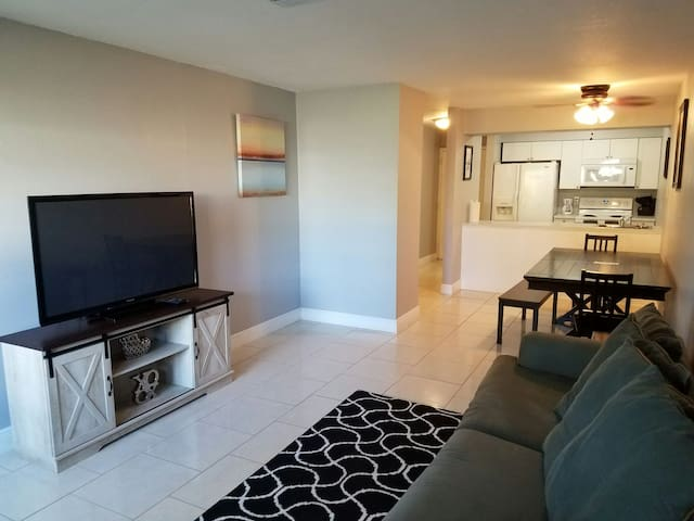 Completely remodeled apartment.  2 beds, 1 bath.