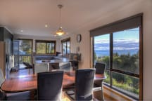 Ocean views from the kitchen and dining room