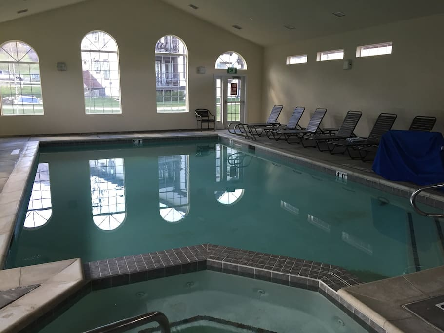 Relax and play in the resort indoor spa and pool.