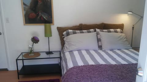 Clean quiet private bedroom & bath, private entry.