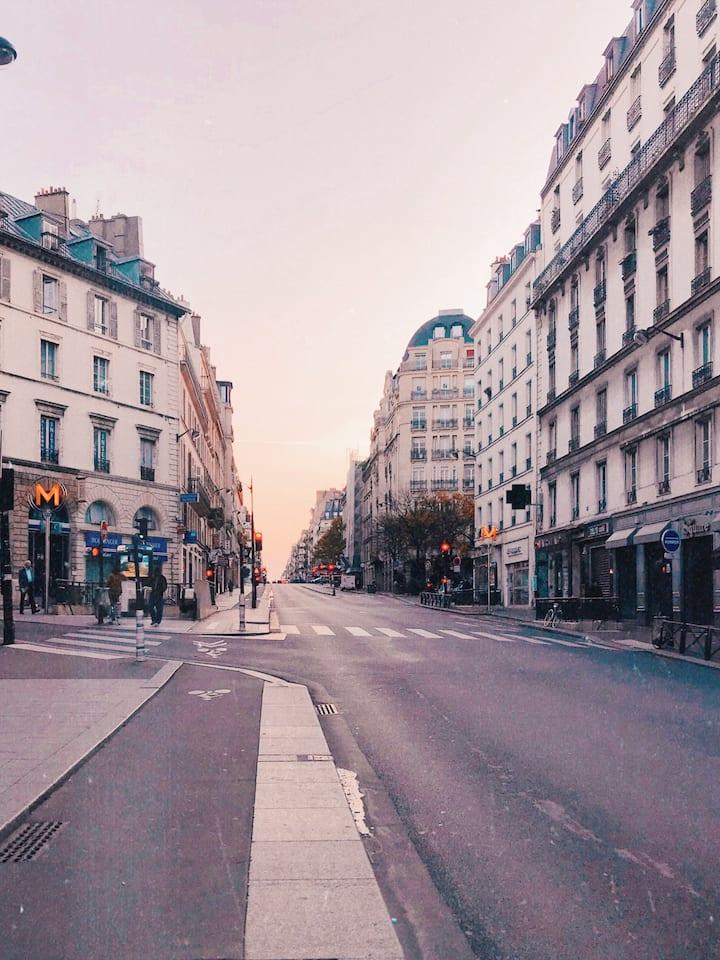 Paris city center studio