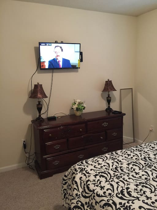 You can watch your favorite shows on cable tv in your room