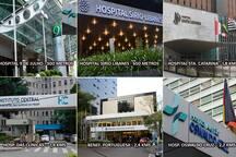 Hospitais da região. Area hospitals.