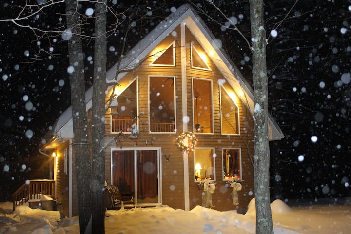 Adirondack 6 guests cottage - Jay  Whiteface NY