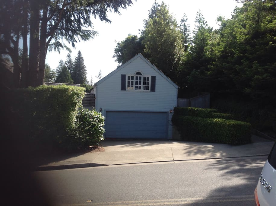 Studio unit above garage- separate entrance