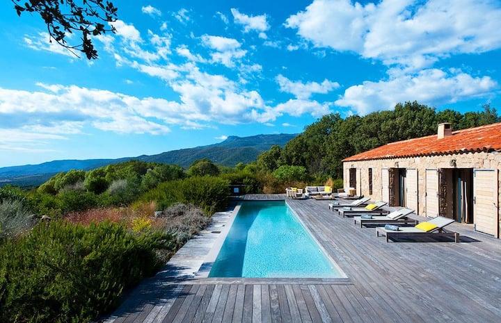 Maison du vignoble piscine chauffée prox plages