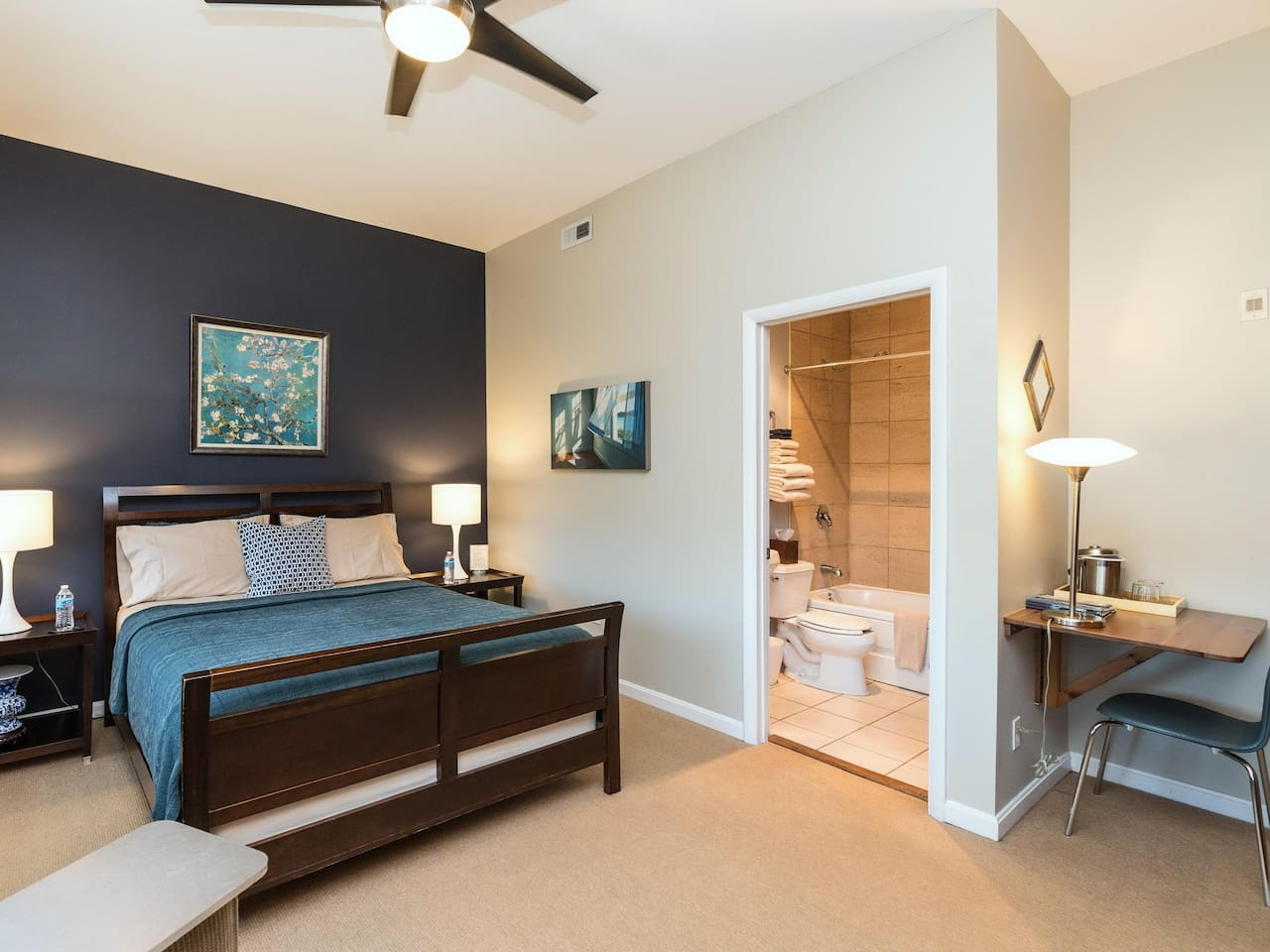 Queen Guest Room - a Business Traveler's Dream!