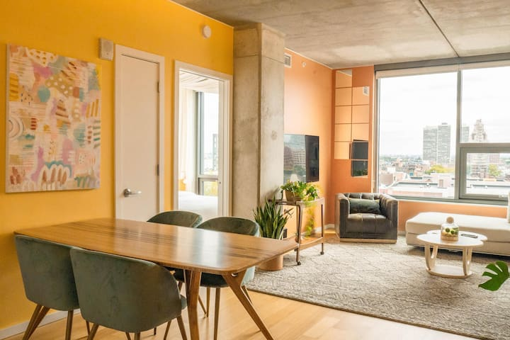 CORAL | Historic District | Spacious 1BD+Roof Deck