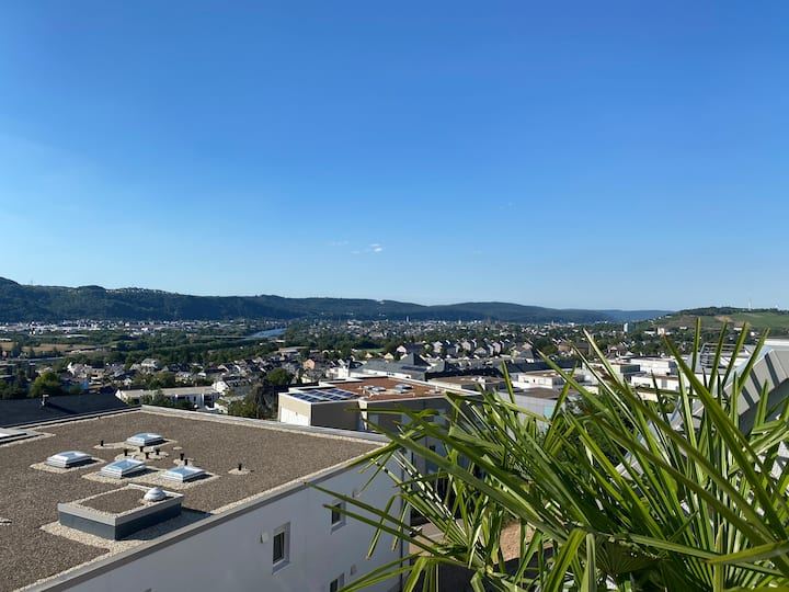 Luxurious modern Penthouse with best view of Trier