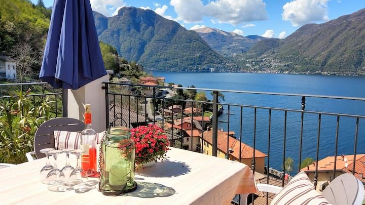 Beautiful apartment with amazing view on Lake Como