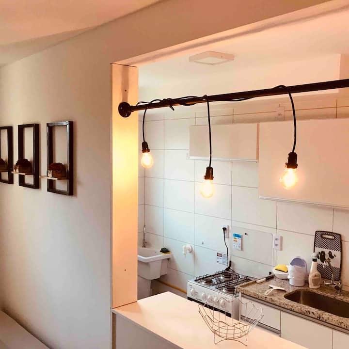 Apartamento aconchegante em Ponta de Campina