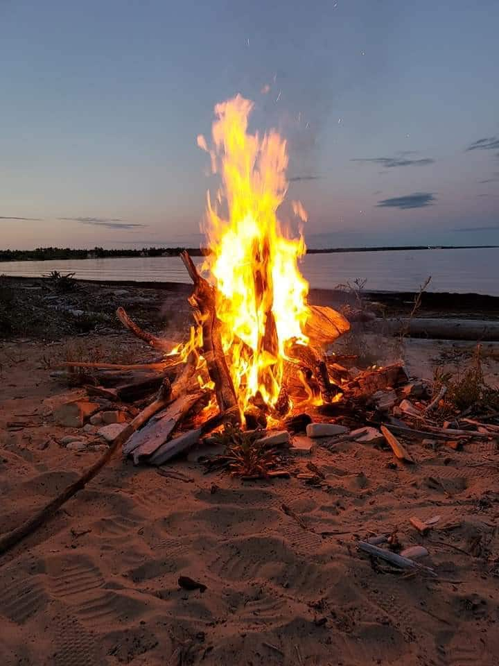Private Lake Michigan sandy beach & campsite!