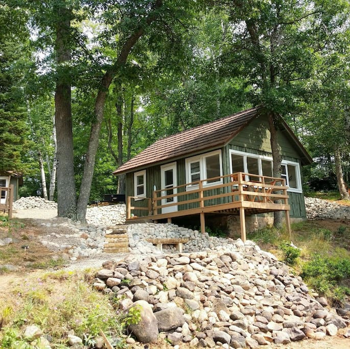 Lakefront Cabin With A Sand Beach Cabins For Rent In