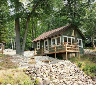 Lakefront cabin with a sand beach - Tomahawk
