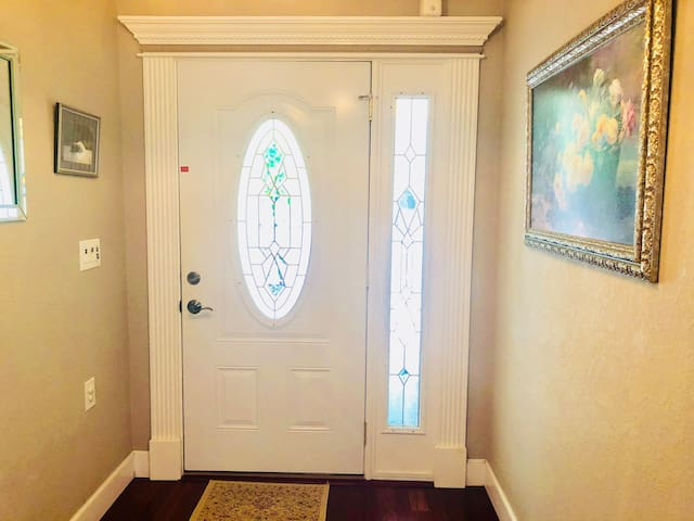 Front door and foyer from inside