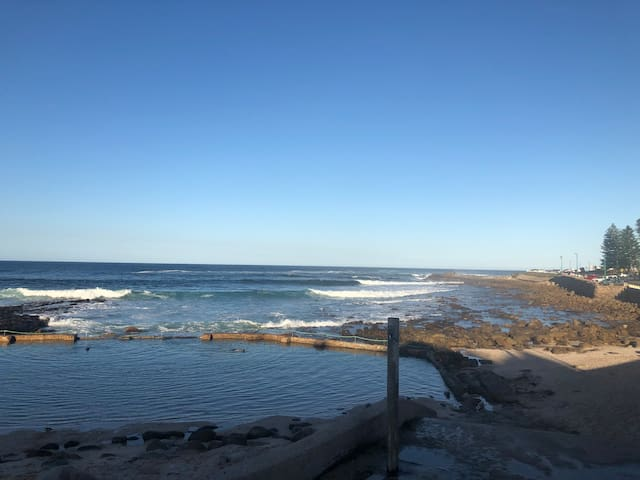 Point Beach and rock pool - 800m walk from the apartment
