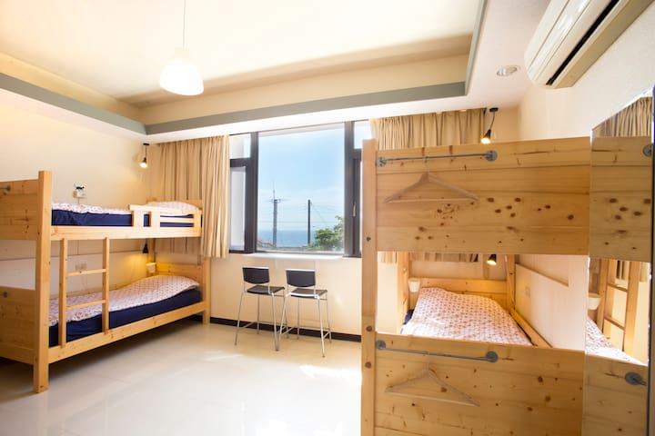 大里驛青年旅館海景6 人客房 6 beds Dormitory