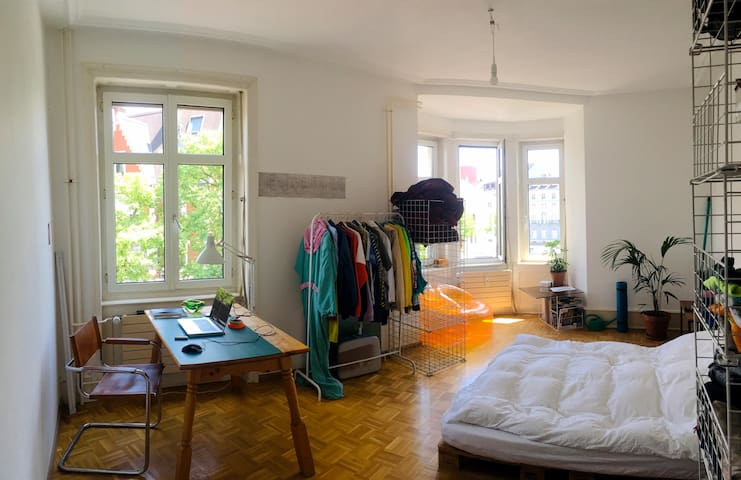 Bright room in lively Kleinbasel available in July