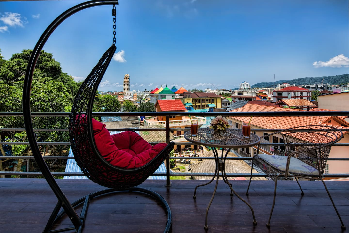 Enjoy the great city & mountain views in swing chair from your balcony!!!