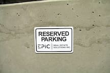 Your reserved parking space. Courtesy of Epic Real Estate Solutions