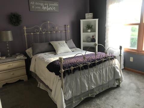 The Lavender Room, posh suite, private bathroom