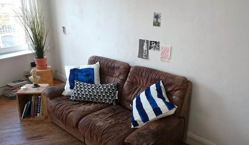 Sunlit vintage apartment. Great location! - Gent - Apartemen