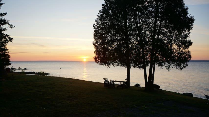 Waterfront sunrise cabin