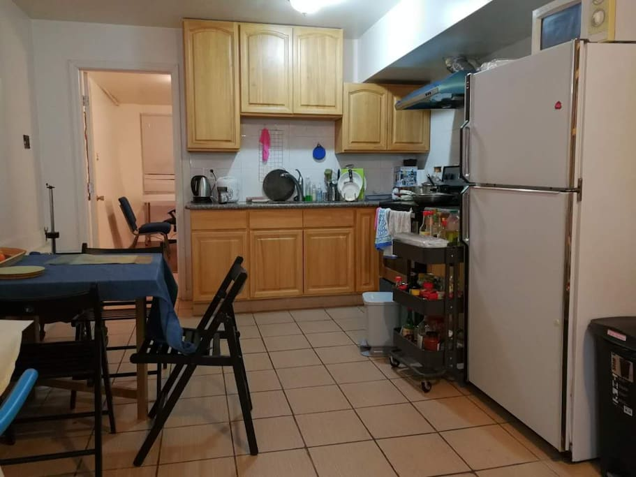 Kitchen are shared with 2 people.