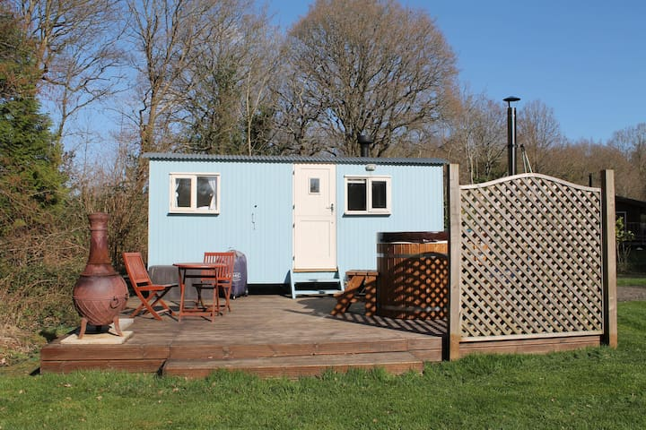 Bluebell the shepherds hut with hot tub