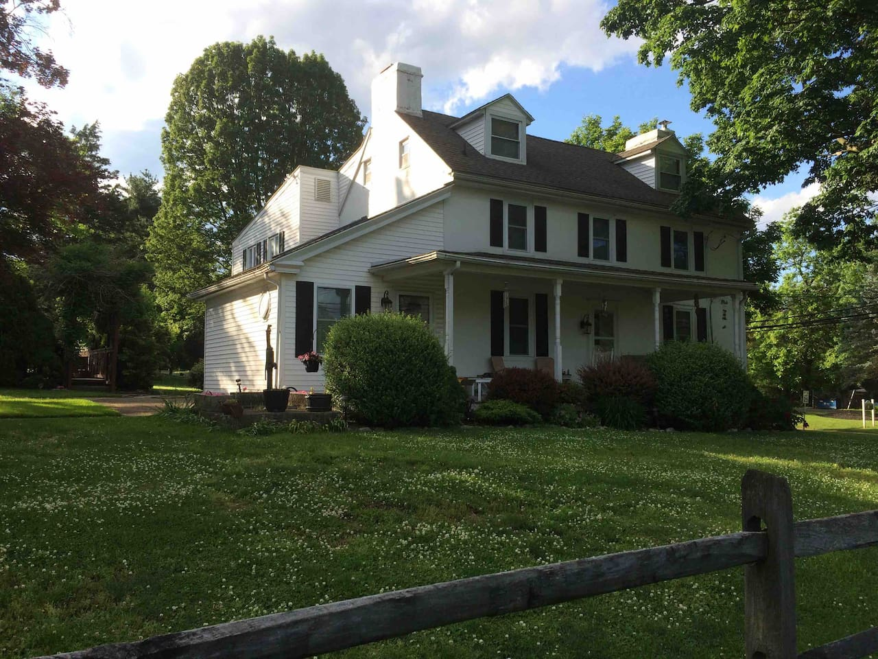 200 + year old Bucks County Farmhouse with an attached, modern, two bedroom apartment with private entrance for our guests.