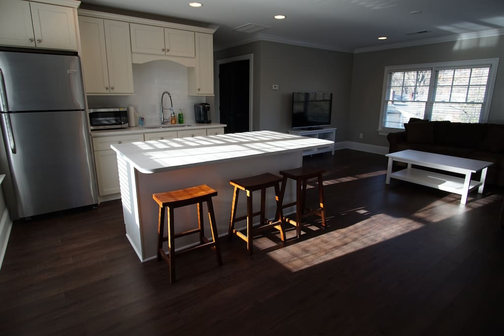 Large kitchen with plenty of room for cooking, entertaining or an extended stay.
