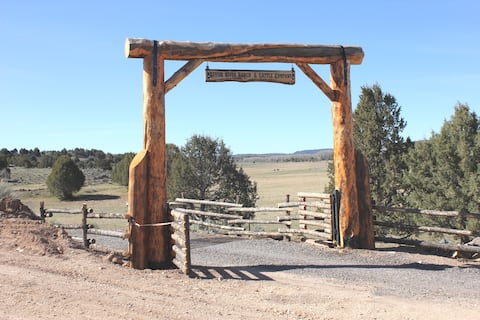 Tack Room Studio on 280 acre Sevier River Ranch - 1 King and 2 Twin Beds