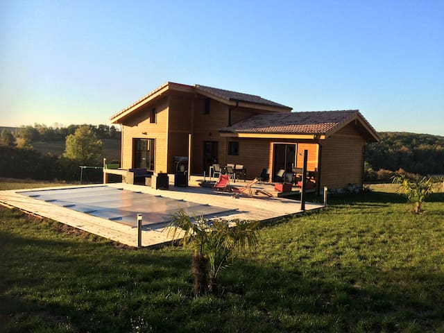 French Gascony For rent brand new wood house - LA ROMIEU - Casa