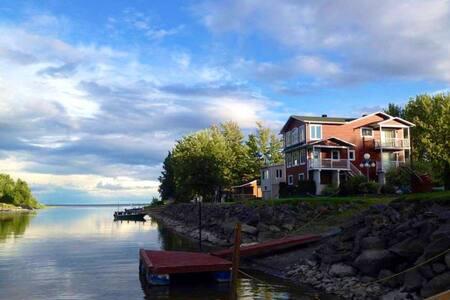 Chalet entier au Lac St-Pierre, Kayak et Familial!