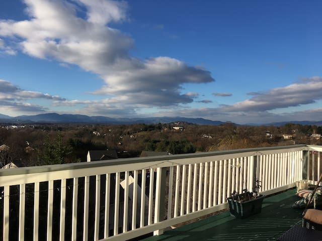 Quiet Retreat with Amazing Mountain Views & Sauna
