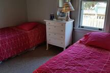 Enjoy this twin-bed room, which is part of a beach view bungalow in scenic historic Cape May NJ
