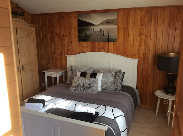 Chambre / Room double Berneuse - 萊森(Leysin) - 公寓