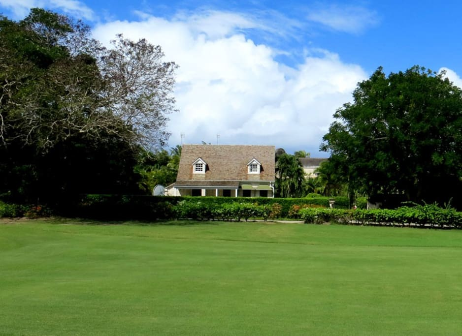 A view of the cottage from the Sandy Lane Golf Course.