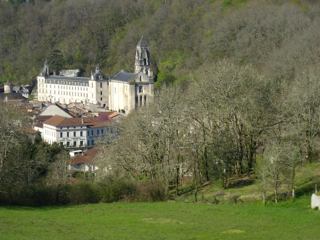 This is the view from our Gites. Brantome.