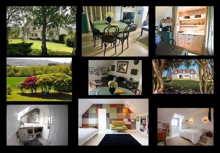 10km de Brest appartement 60m2 2 Chambres avec vue