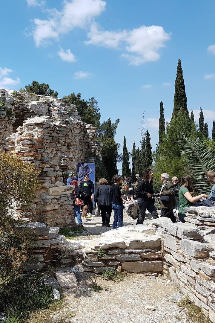 The old monastery at Ymmitos balcony