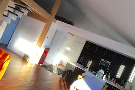 Nice bedroom and car park - Saint-Julien-en-Genevois