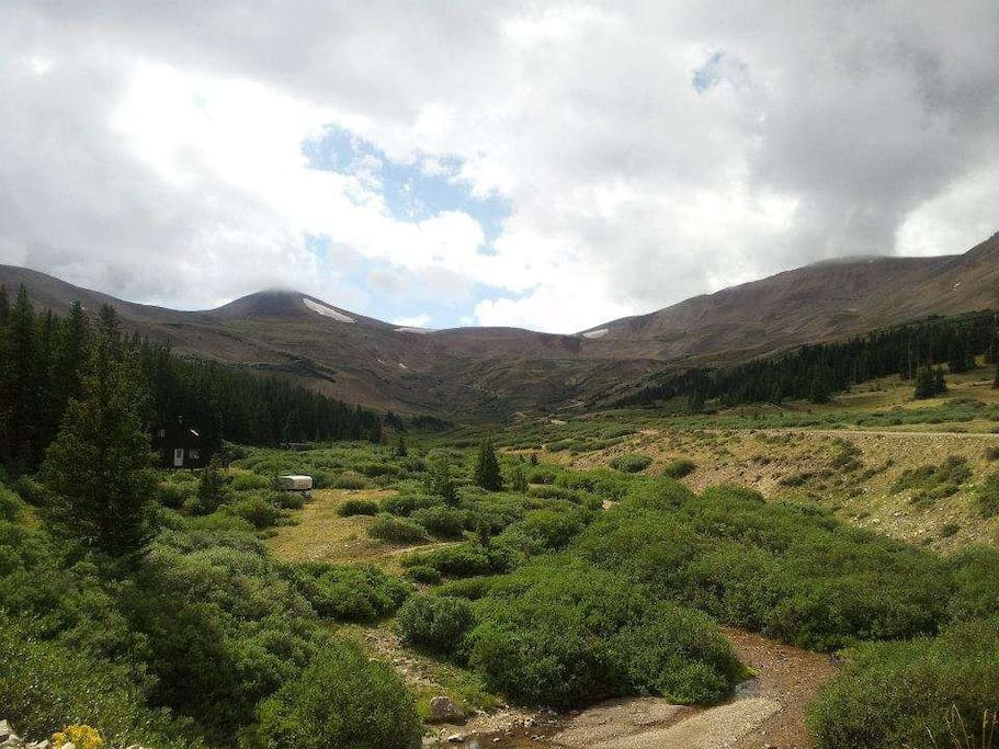 Headwaters of 4 Mile Creek where the Yurt is located