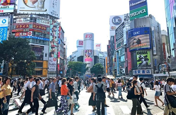 Omotenashi walks to Shibuya sta 6 minute