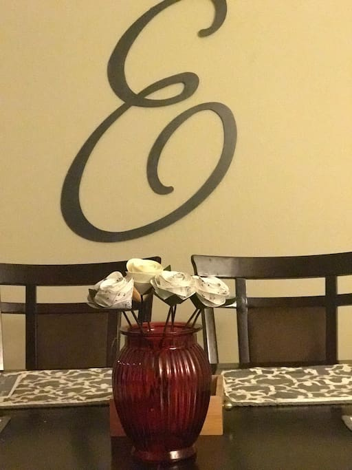 Enjoy your food or morning coffee at our kitchen table when not already in use.